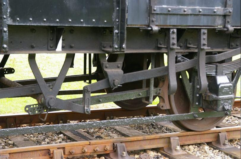 Photo: Detail of brake gear on N34 loco coal wagon at Didcot ©Jim Champ