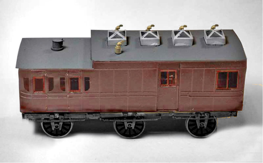 GWR Mail Carriage from a BGS 4mm scale kit