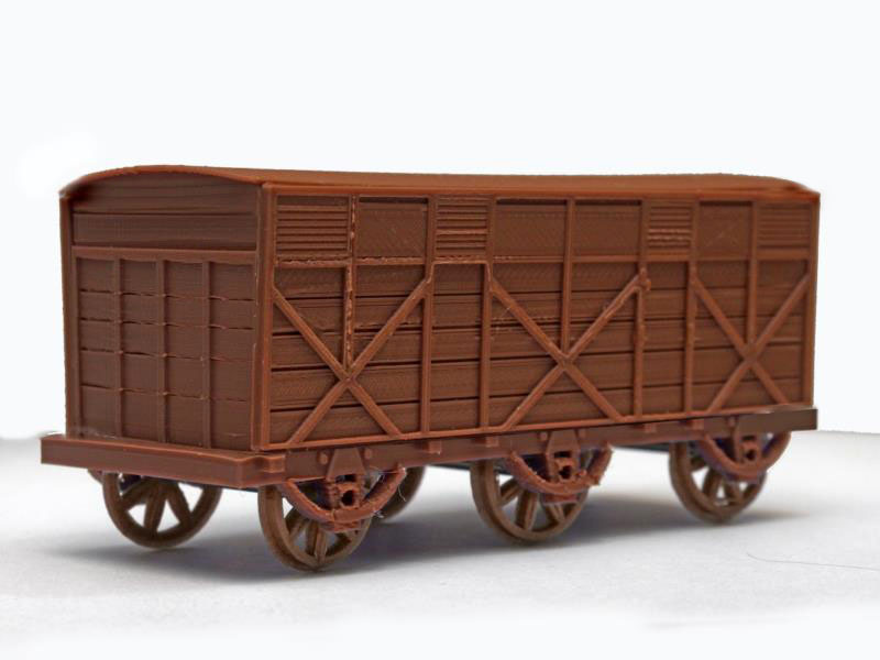3D-printed model of an early GWR Broad Gauge 3rd class carriage