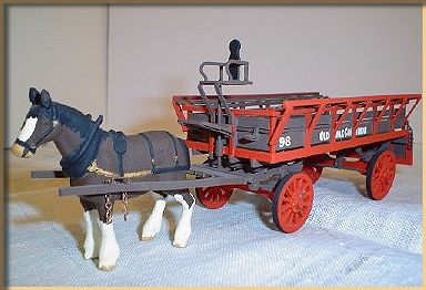 7mm model of horse dray
