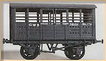 model of GWR iron cattle wagon