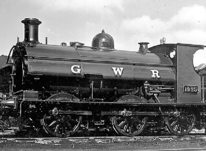 GWR saddle tank 1925 in post-WWII green