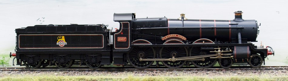 GWR Saint 2937 Clevedon Court, lined BR(W) mixed-traffic black livery, by Ted Kanas