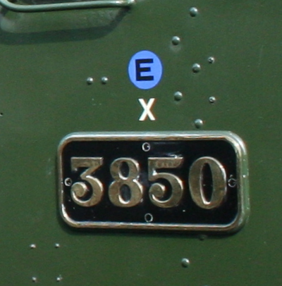 GWR 'X' notation on cabsides