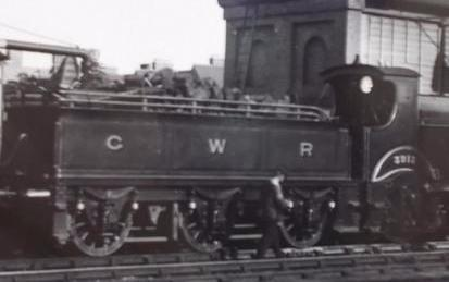 GWR 2-4-0 Barnum 3219 tender at Oxford