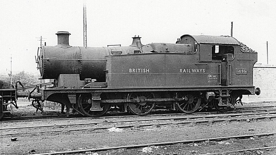 0-6-2T 5645 with Gill Sans 'British Railways' insignia