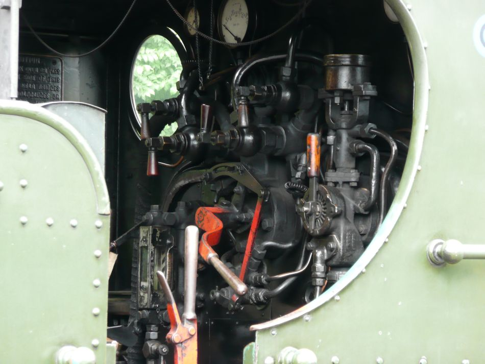 Interior of cab of Pannier 5764