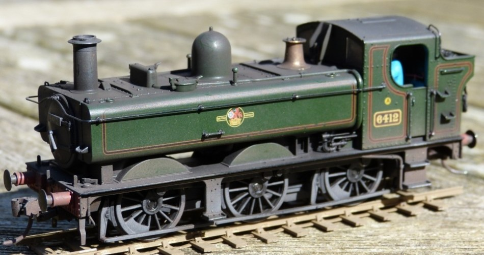 Bachmann 64xx in late-totem lined green livery, by Chris Hopper