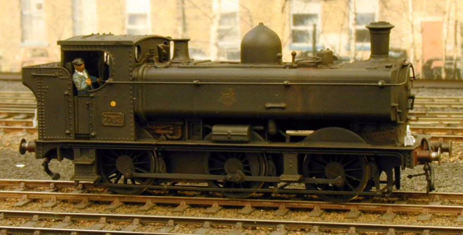 Pannier 7768 in early BR livery, by John Brighton