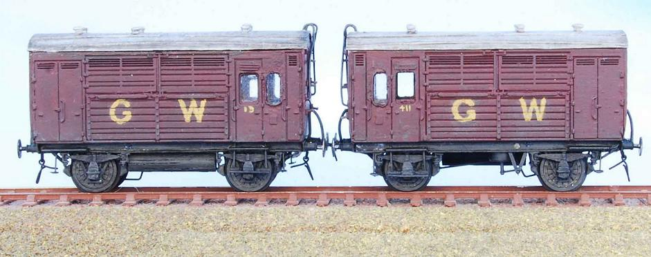 GWR horseboxes diagram N12 in crimson lake livery