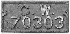 GWR wagon number plate