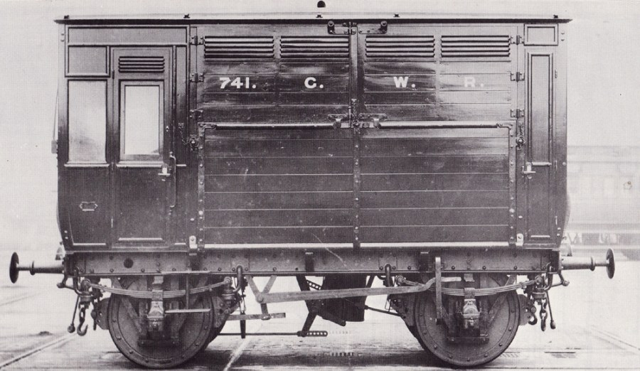 GWR diagram N8 horse box, 1896