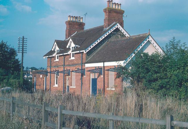 Whitchurch station, after closure, by David Wainwright