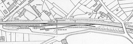 Hampstead Norris station plan, prior to doubling the line