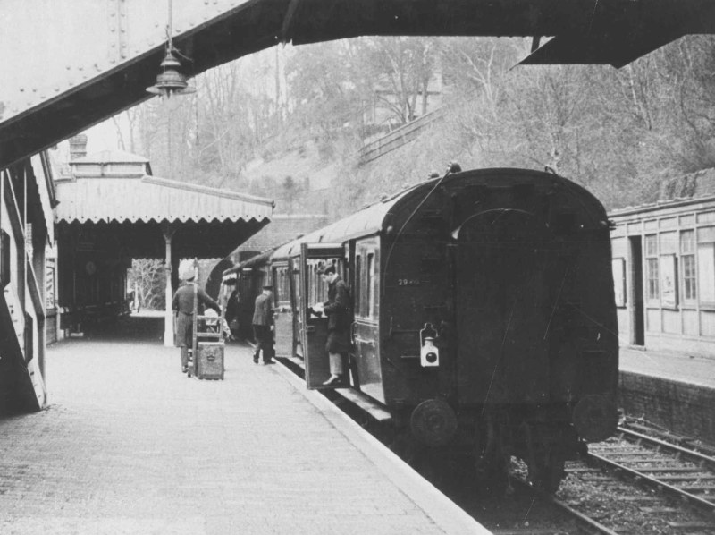 Winchester Chesil station with passengers