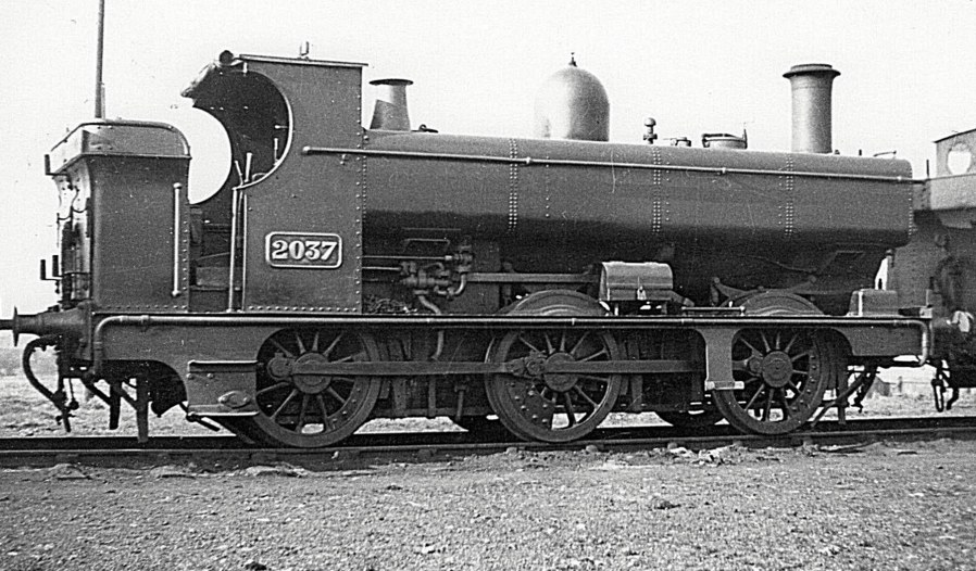 GWR 2037 0-6-0PT at Newport Pill, 6 February 1938