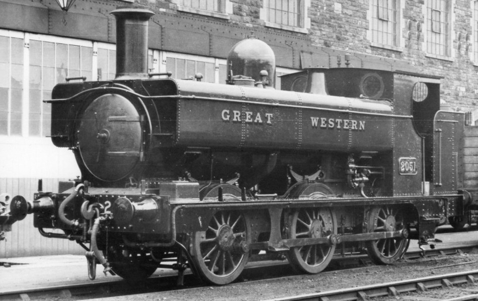 GWR 2051 at Swindon on 3 March 1935