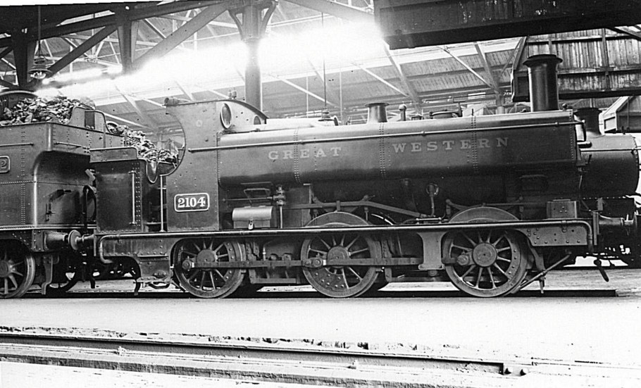 GWR 2104 0-6-0PT at Tyseley, 1930
