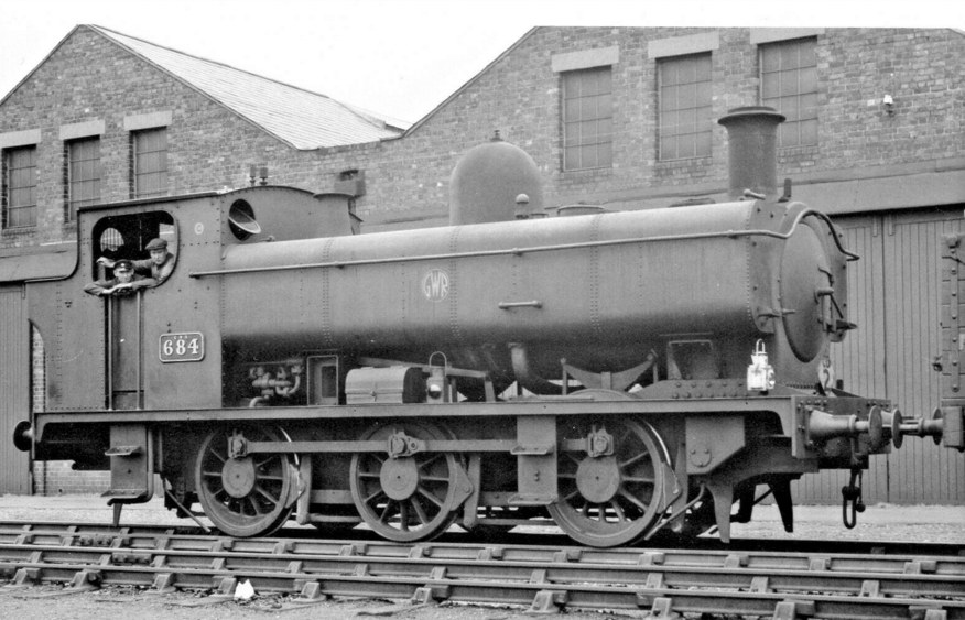 684, an ex-Cardiff Railway tank, at Cardiff East Dock
