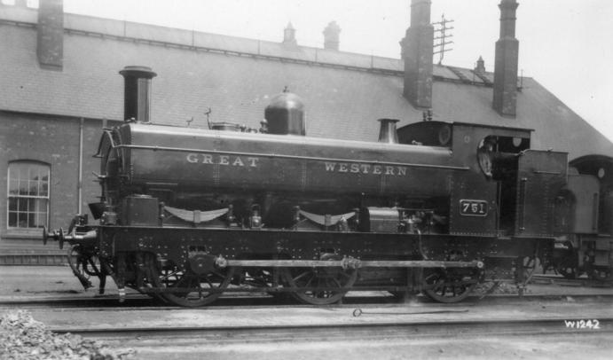GWR Buffalo tank 751 at Swindon in 1929