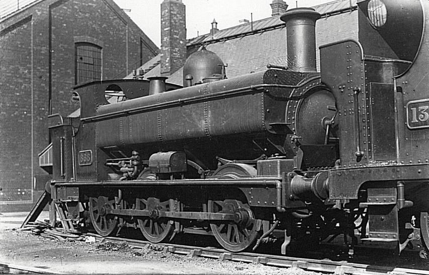 GWR 868 at Swindon with early bunker