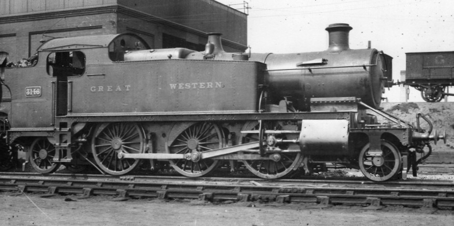 GWR Prairie 3146 at Old Oak Common in May 1921