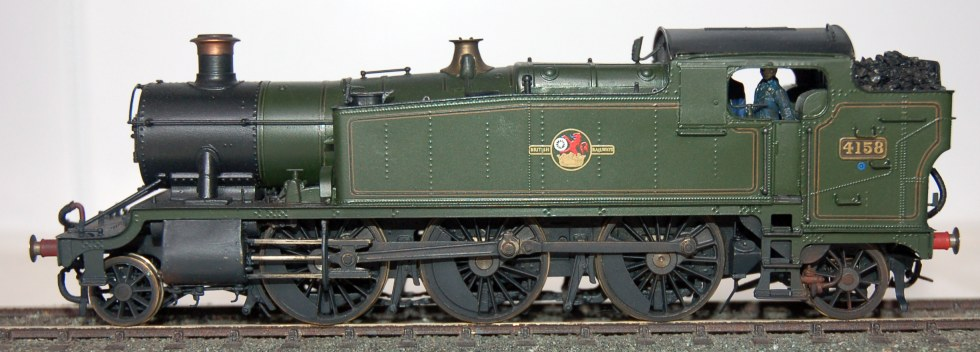 GWR large prairie 4158, built from a 4mm Martin Finney kit by Steamline Sheffield