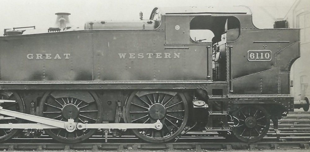 GWR 6110 large prairie soon after building in 1931