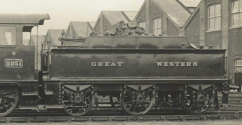 3000g tender behind Collett Goods 2251 in 1930