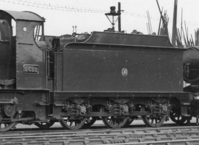 ROD tender behind GWR Aberdare 2622 on 11 April 1937