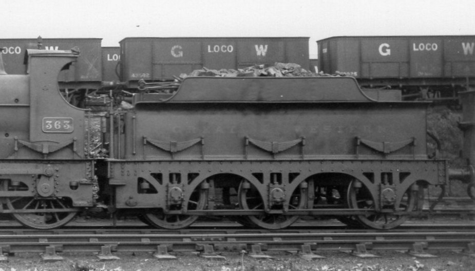 Armstrong tender on 360 class loco number 363 at Tyseley, July 1927