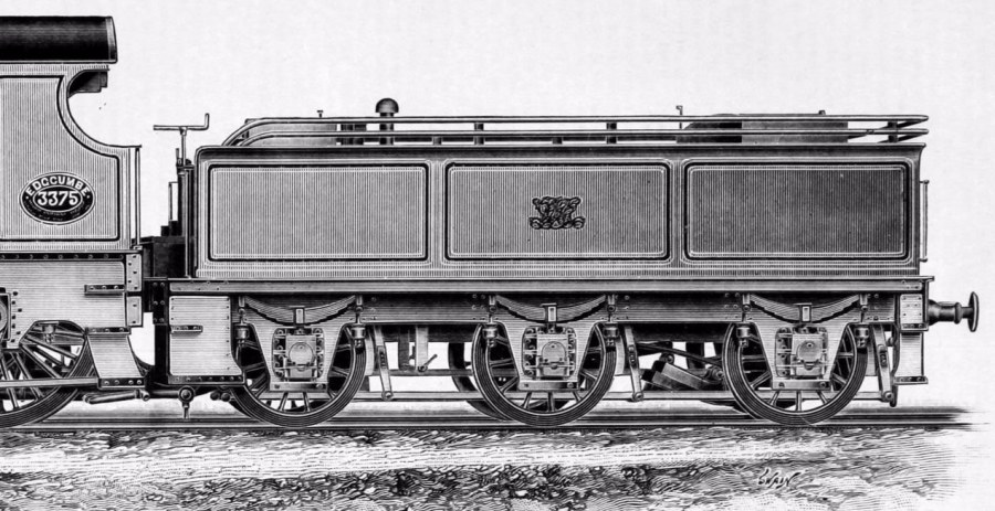 GWR Dean 4000g tender fitted with a water scoop for the first non-stop runs between Paddington to Plymouth