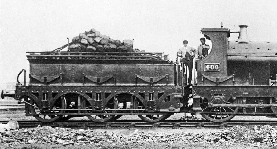 GWR tender behind Armstrong Goods engine 406
