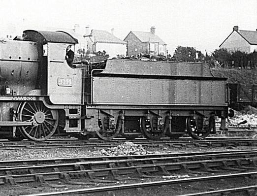 3500g tender behind Mogul 4344 at Weymouth, 11 October 1931