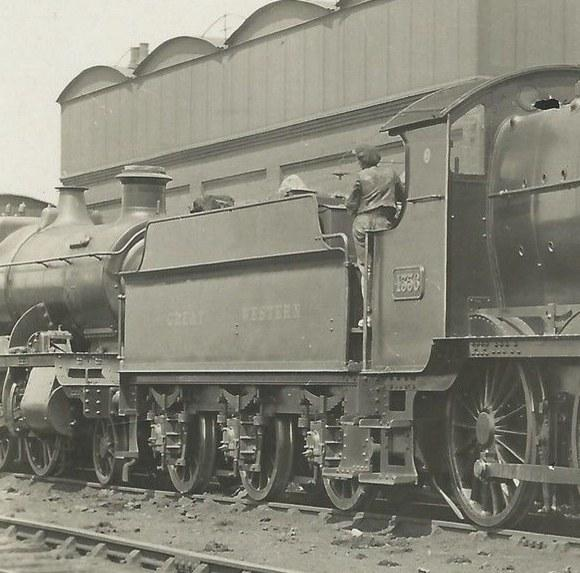 3500g flush-riveted tender behind Mogul 4356 at Old Oak Common