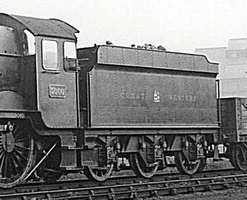 4000g tender behind Castle 5000 at Tyseley, 23 October 1935
