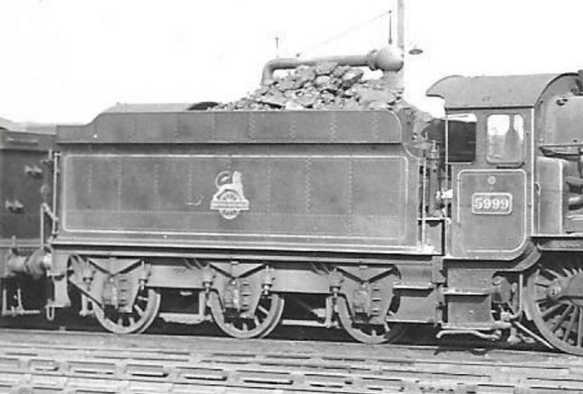 tender of GWR Hall 5999