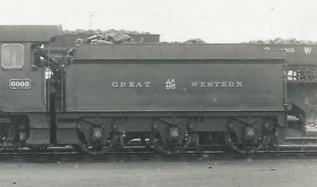 Tender behind GWR King 6008