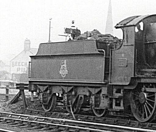 3500g tender behind Mogul 6311 at Croes Newydd, 28 September 1958