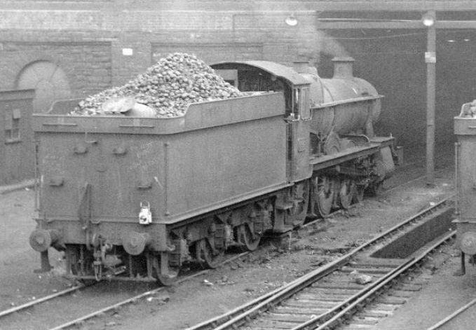 Grange 6847 at Pontypool Road in 1964