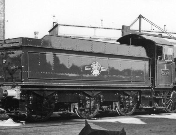 Collett 3500g with Grange 6855 at Swindon, 18 September 1960