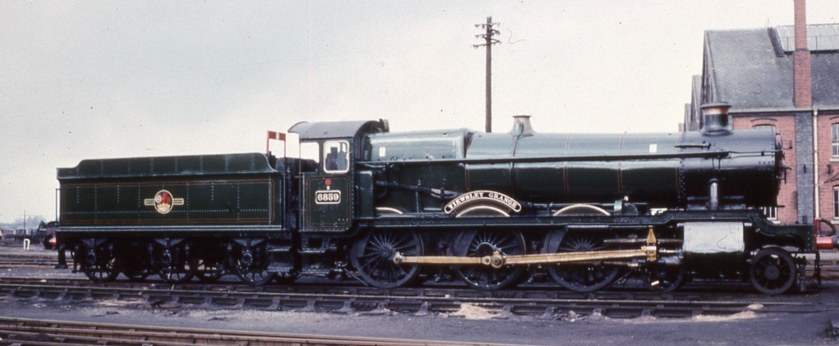 Collett 3500g with Grange 6859 at Swindon, February 1964