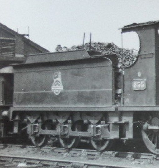 tender of ex-Cambrian 0-6-0 loco 855