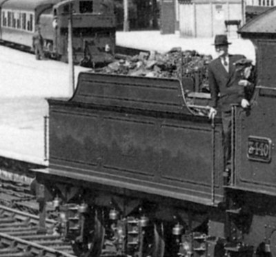 City of Truro tender at Newton Abbot in 1957