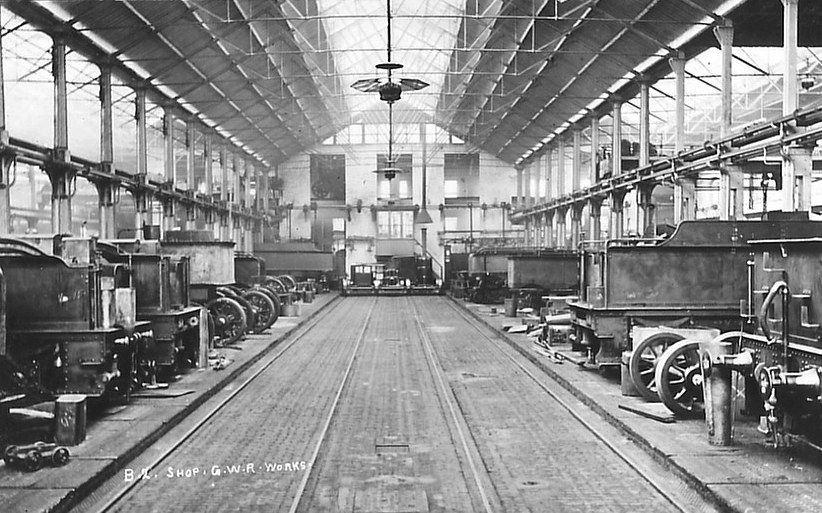 Tenders in Swindon J shop, c 1907
