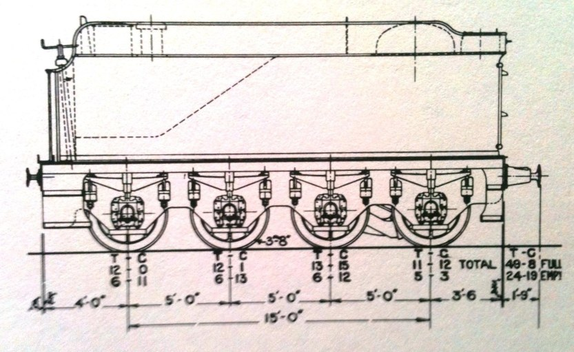 drawing of GWR 8-wheel tender