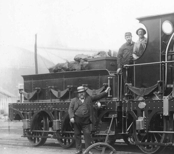 tender behind GWR broad gauge Iron Duke loco Inkermann